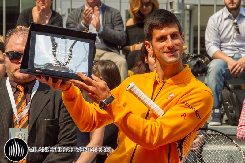 Djokovic premiazione in Palazzo Regione Lombardia fotografo Milano