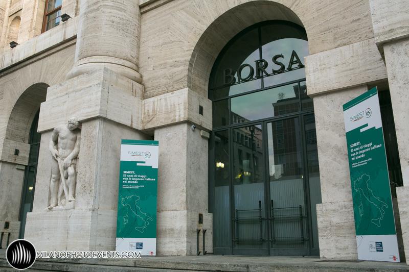 Evento Simest alla Borsa di Milano – fotografo eventi Milano